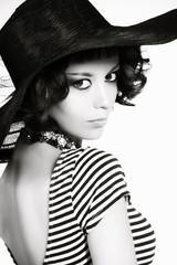 black-and-white portrait