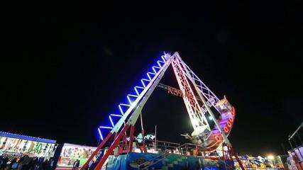 Nocturne in the amusement fair park