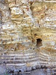 トレッキングコースの地層 パロスバーデス