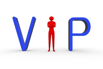 vip people on a white background