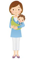 子育てする女性 ママ