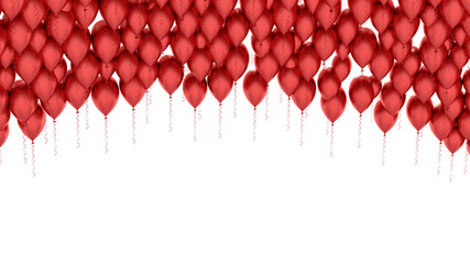 Isolated image of a red balloon over white