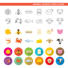 Animal source food icons.