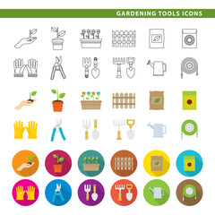 Gardening tools icons.