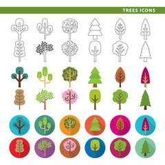Trees icons.