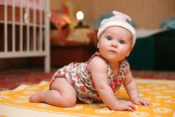 bright picture of adorable baby girl