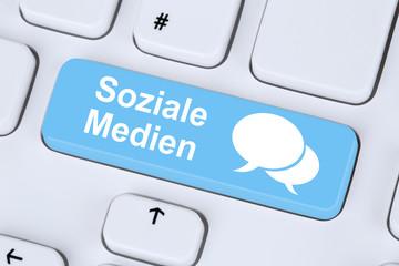 Soziale Medien und soziales Netzwerk Freundschaft Kontakte im In