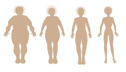 Изолированный Похудение Диета Ожирение Вес