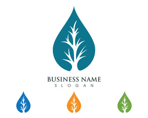 Water Eco Logo Template