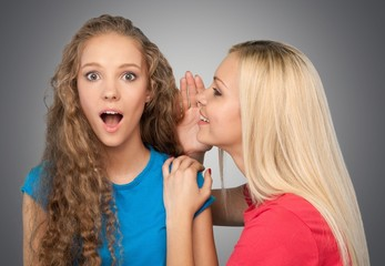 Whispering. Girl In Shock - Oh my Gosh!