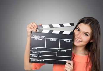Video. Action clapboard