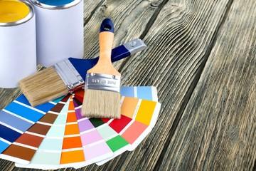 Paint. Colour Spectum Samples and Paint