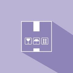 Icono box morado sombra