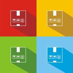 Iconos box colores sombra