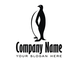 penguins image logo vector