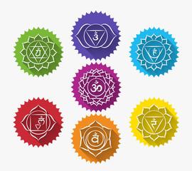 Set of chakras