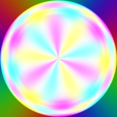 Abstract illustration of bright colorful circle blurred on white