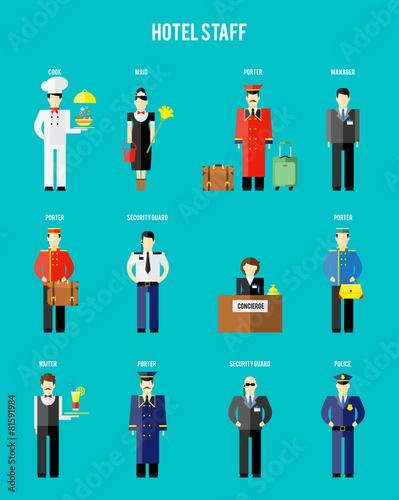 Vector hotel staff - 81591984