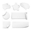 White paper stickers - 81592173