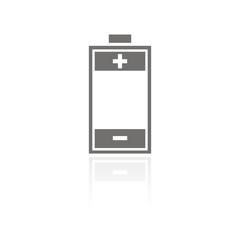 Icono batería FB reflejo