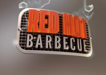 Red Hot Barbecue Summer Emblem