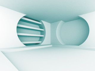 Abstract Blue Futuristic Design Interior Architecture Background