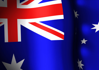 Flapping flag of Australia