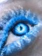 beautiful ice eye in geometric styling abstract geometric