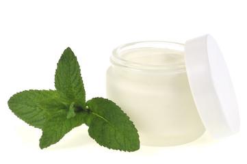 Crème de soins à la menthe poivrée