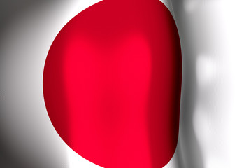 Flapping flag of Japan