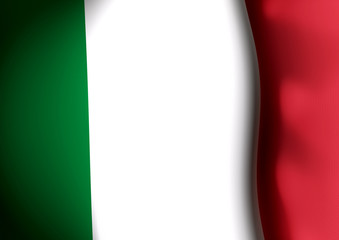 Flapping flag of Italy
