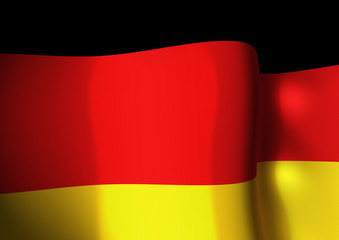 Flapping flag of Germany