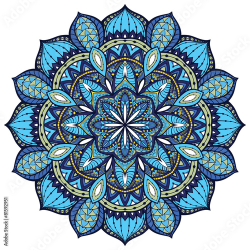 Vector, elegant mandala, with intricate detail. - 81592951