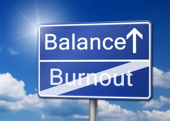 balance Burnout Schild