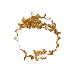 Golden inky grunge splash