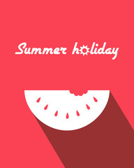 Summer poster with watermelon