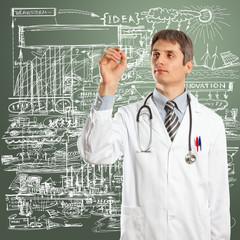 Doctor Male Writing Something