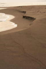 砂に寄せる波 縦