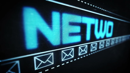 Social network text in pixel design