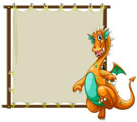 Dragon and frame
