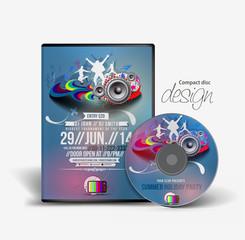 Music cd cover & box design template.