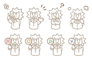 ライオン先生 線画
