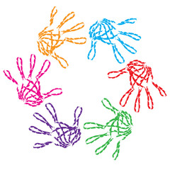 Conceptual child hand circle