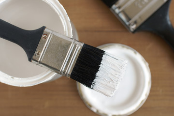 Painting and decorating brushes and paint