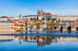 Leinwanddruck Bild - Gradchany Prague Castle and St. Vitus Cathedral