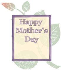 grunge mothers day background, retro illustration