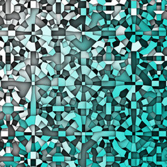 3d abstract fragmentation geometric in blue white