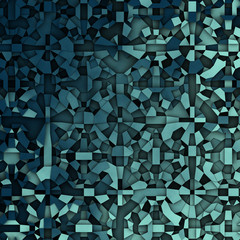 abstract fragmentation geometric in blue backdrop