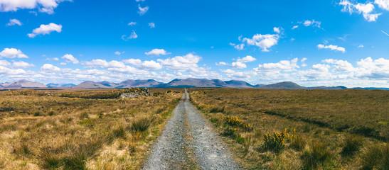 Dirt road in a remote landscape