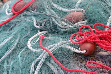 Fischernetz im Hafen von Kappeln